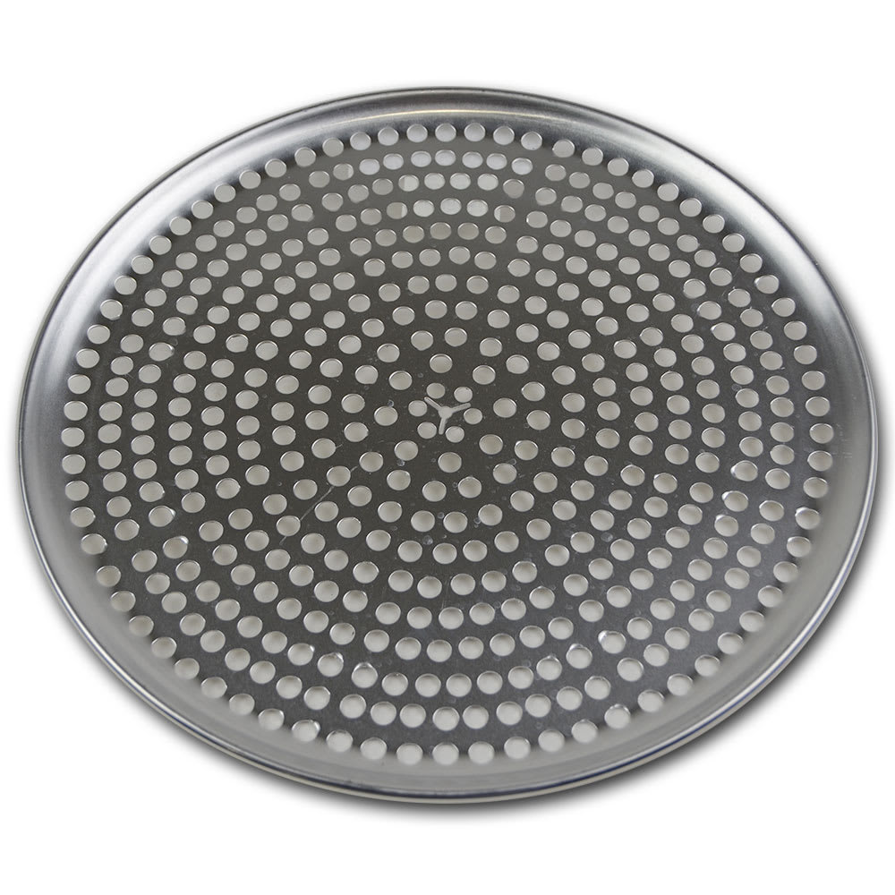 "Browne 575352 Perforated Pizza Plate, 12"" Diameter, 1.0 mm Gauge Aluminum"