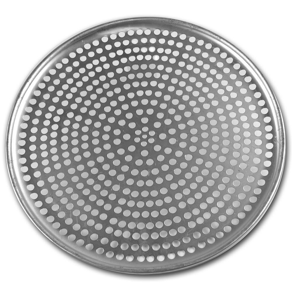 "Browne 575353 Perforated Pizza Plate, 13"" Diameter, 1.0 mm Gauge Aluminum"