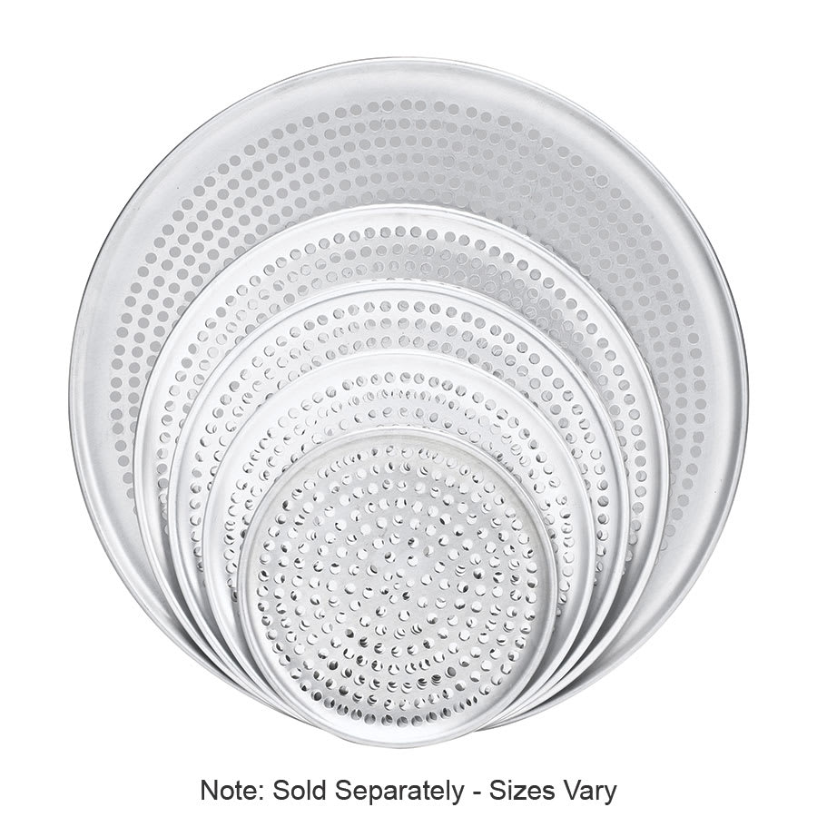 "Browne 575354 Perforated Pizza Plate, 14"" Diameter, 1.0 mm Gauge Aluminum"