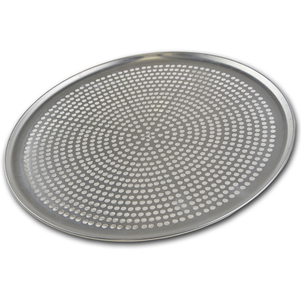 "Browne 575359 Perforated Pizza Plate, 19"" Diameter, 1.0 mm Gauge Aluminum"