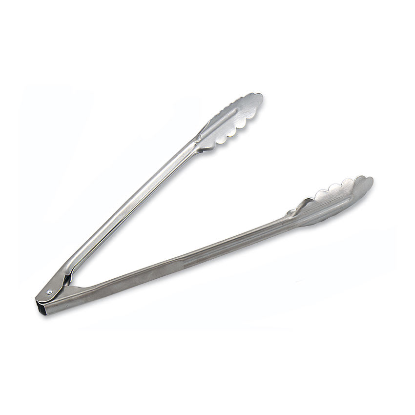 "Browne 57538 12""L Stainless Utility Tongs"