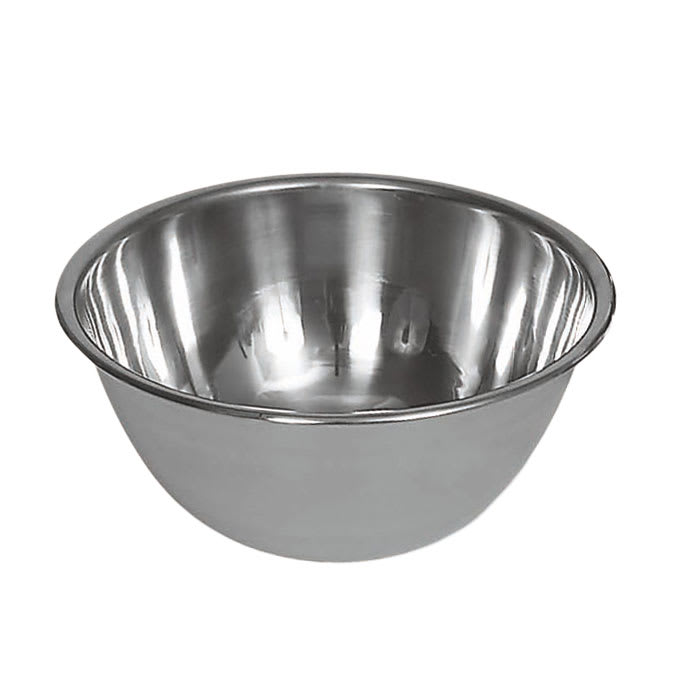 Browne 575904 Mixing Bowl, 4 qt, 9 3/4 in, Deep, 18/8 Stainless Steel