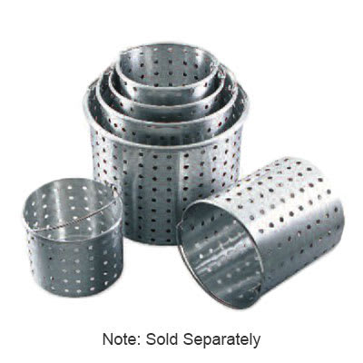 Browne 5811132 32-qt Perforated Footed Stock Pot Basket, Aluminum