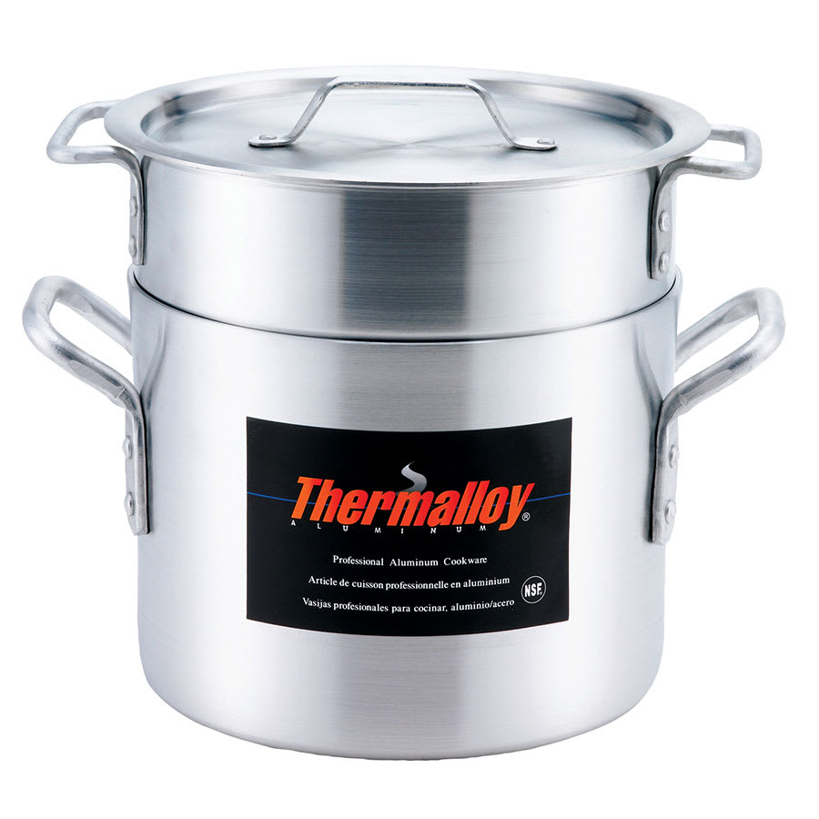 "Browne 5813220 12"" Aluminum Double Boiler w/ 20 qt Capacity"