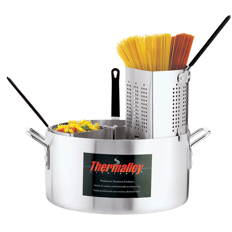 Browne 5813318 Thermalloy Pasta Cooker, 20 qt, Includes 4 Inserts