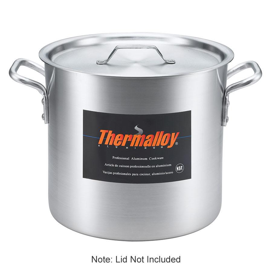 Browne 5814260 Thermalloy Heavy Duty Stock Pot, 160 qt, No Cover, Aluminum, 6.0 mm