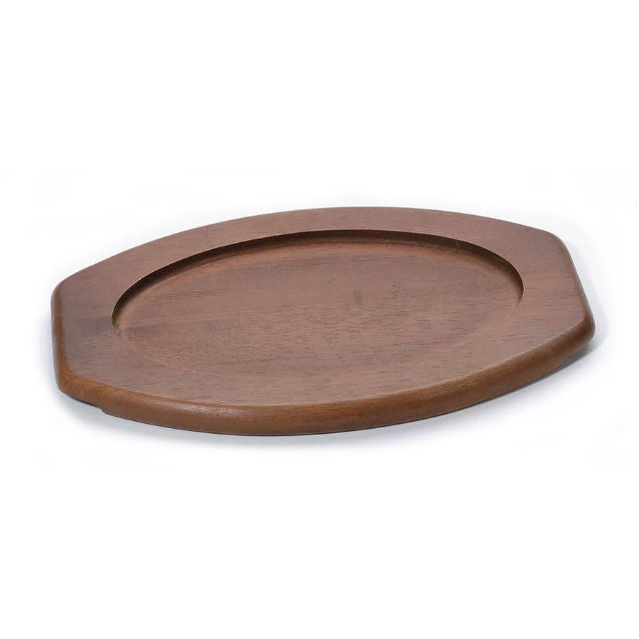 Browne 5811061 Wood Underliner, 8 1/4 x 12 in, Oval, Kiln-Dried Hardwood