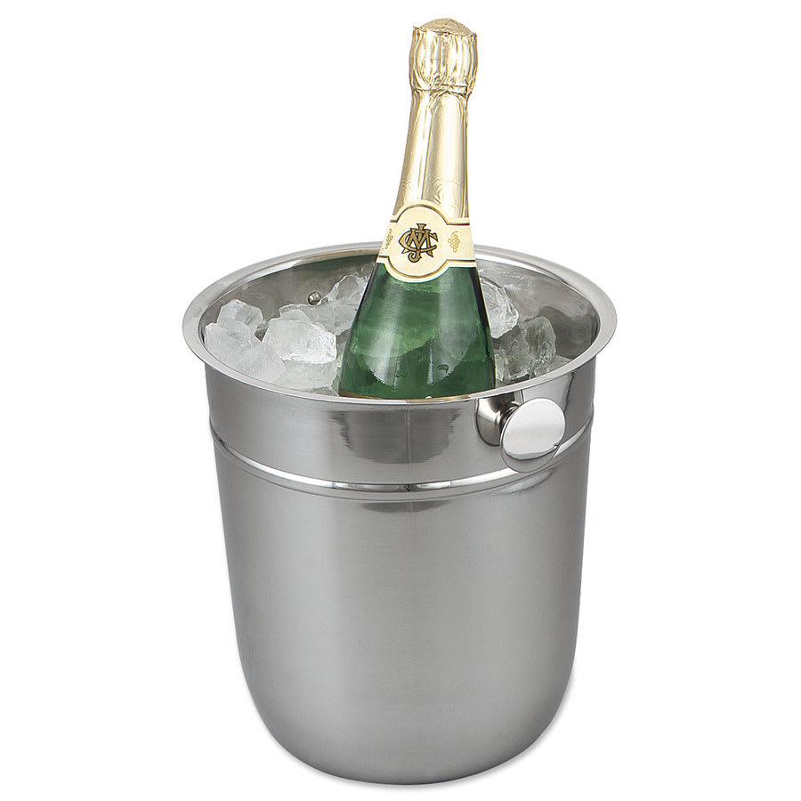 Browne 69501 Wine Bucket, 9 1/2 in, 18/8 Stainless Steel