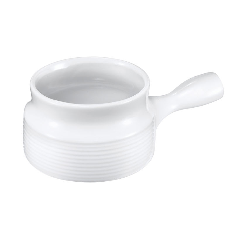 Browne 744048W 16 oz Ceramic Onion Soup Bowl, With Side Handle, White