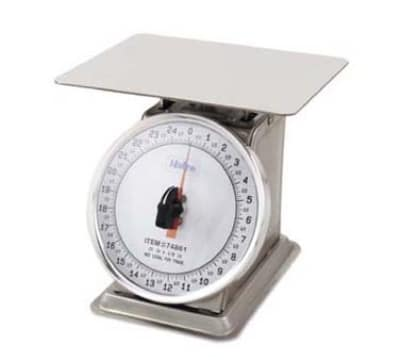 Browne 74867 Countertop Portion Scale, 2 lb x 1/4 oz Graduation, Fixed 6 in Dial