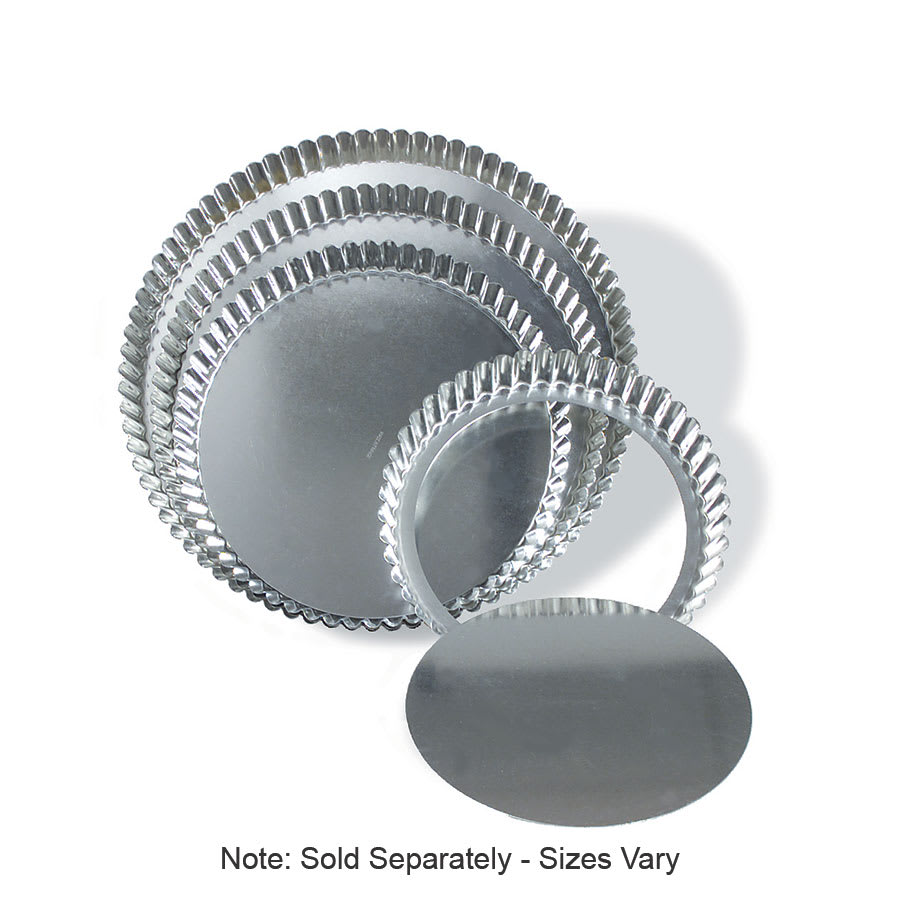 "Browne 80126620 Quiche Pan, 8 x 1-1/4"" Deep, Removable Bottom, Medium Rim, Tin"
