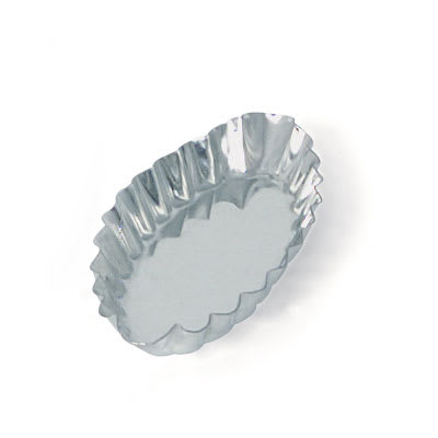 Browne 80194150 Boat Tartelette Mould, 4-7/10 in, Fluted, Tin