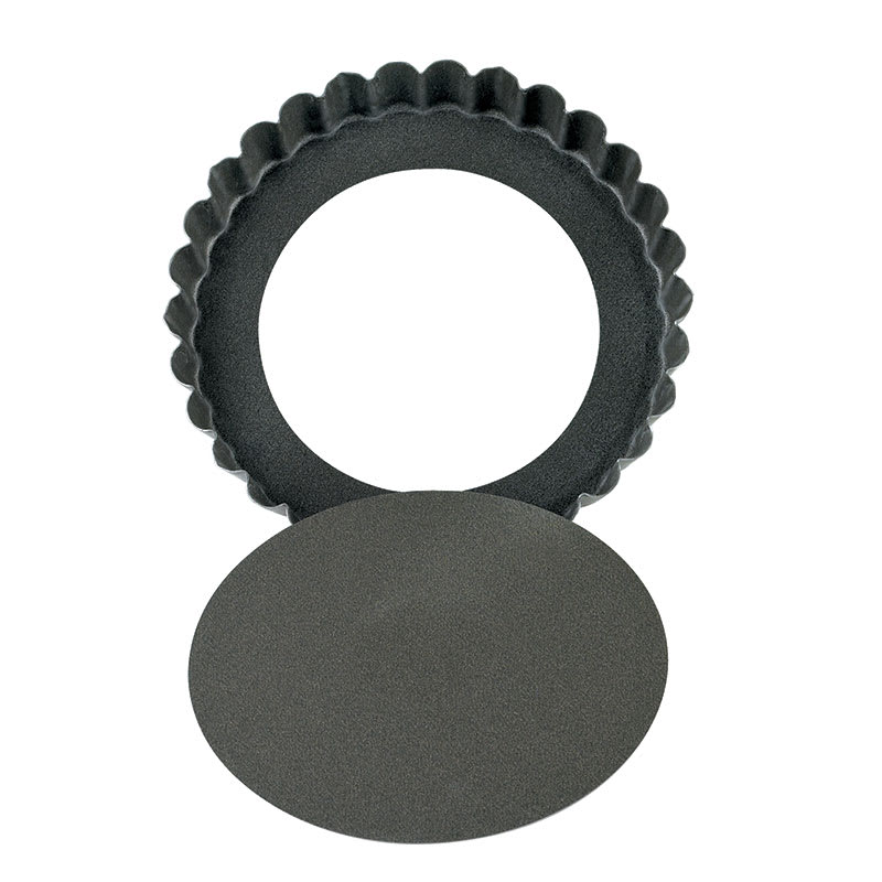 "Browne 80293480 4.75""Round Non-Stick Quiche Pan w/ Removable Bottom, Low Rim"