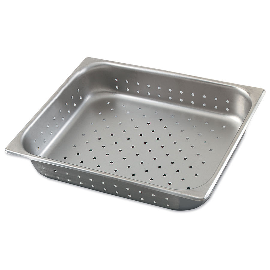 Browne 578124 Half-Sized Steam Pan - Perforated, Stainless