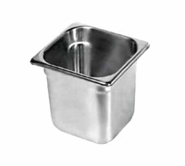Browne 8166 Sixth-Size Steam Pan, Stainless