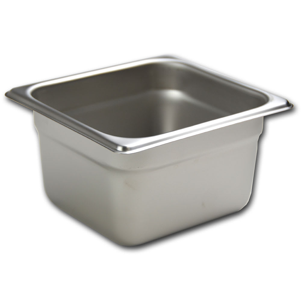 Browne 5781604 Sixth-Size Steam Pan, Stainless