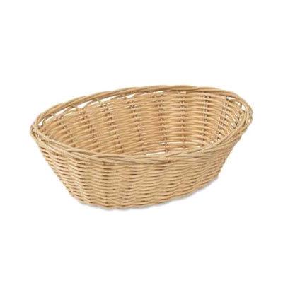 "Browne 575443 Basket, 9 x 7 x 3"", Oval, Polypropylene, Odorless, Dishwasher Safe"