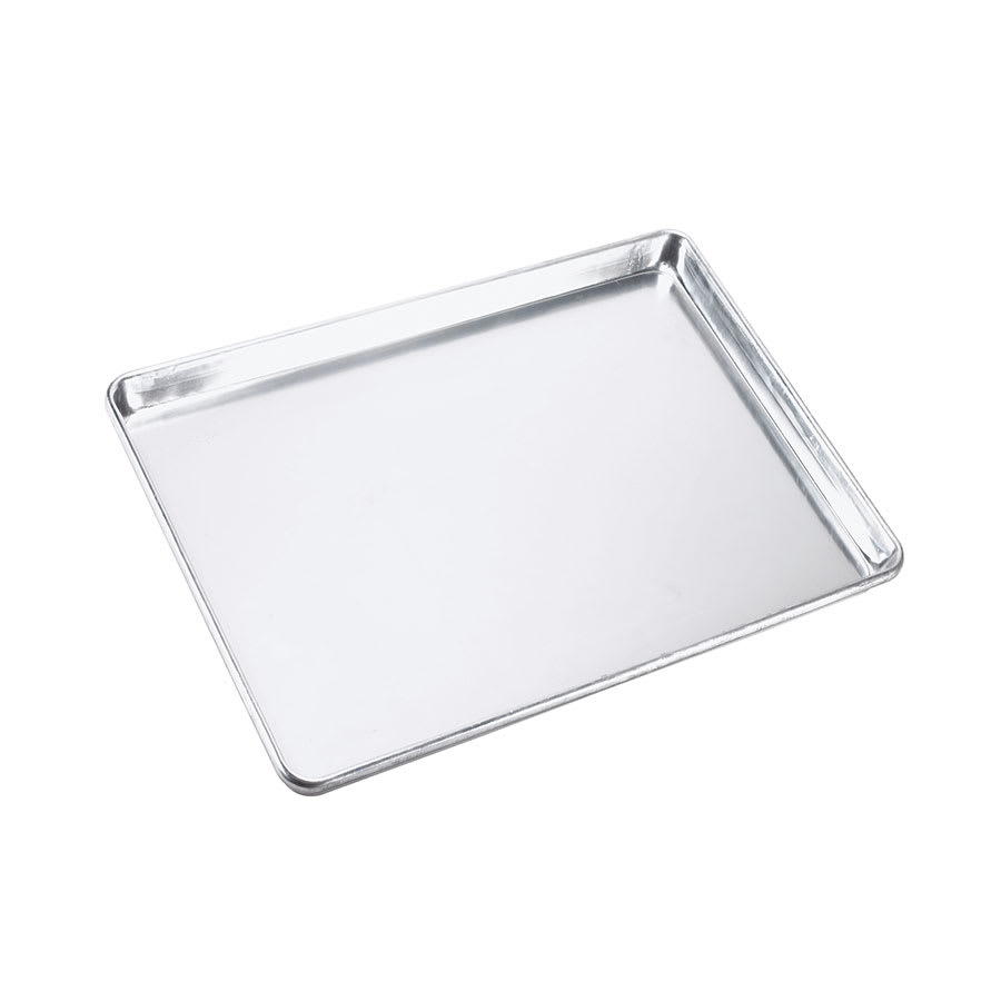 "Browne 58132640 1/2 Half Size Bun / Sheet Pan - 18"" x 13"" x 1"", 18 gauge Aluminum, Natural Finish"