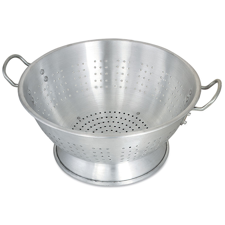 "Browne 5811616 Colander, 15.1 qt, 16 in, 3/16""Holes,  Heavy-Duty Aluminum,"