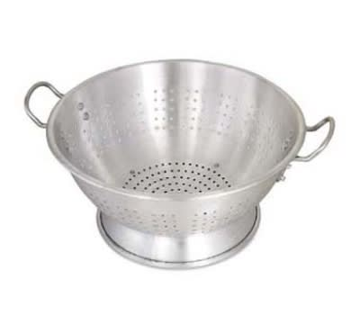 Browne CA1616E 16 qt Aluminum Colander, 16-1/2 in Diameter, Riveted Handles