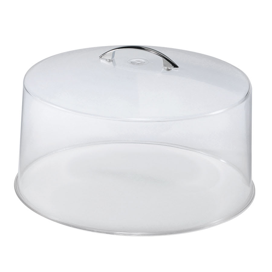 "Browne CK20512 12"" Round Cake Cover, Clear With Chrome Handle"