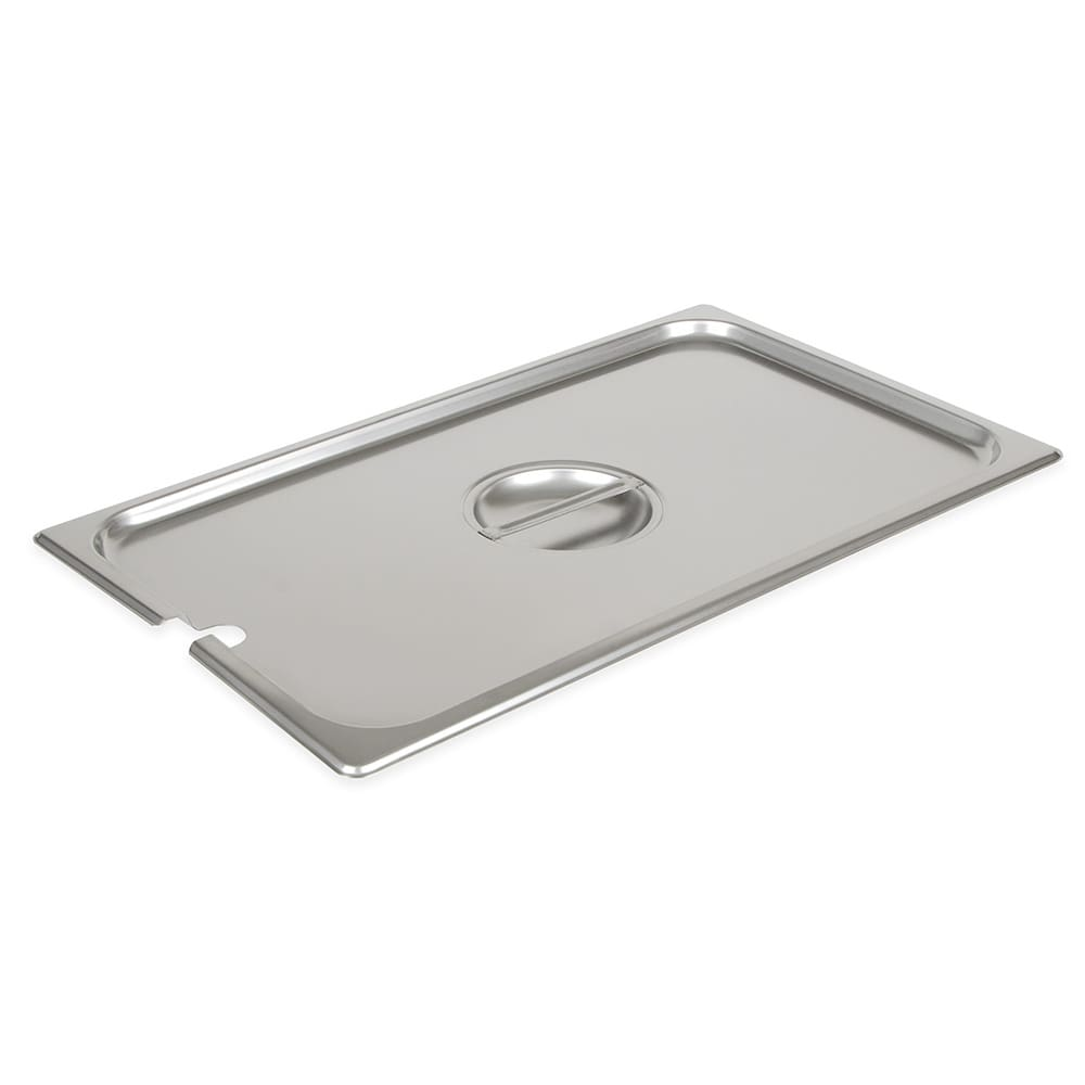 Browne 575529 Full-Sized Steam Pan Cover - Notched, Stainless