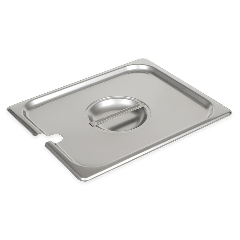 Browne 575539 Half-Sized Steam Pan Cover - Notched, Stainless
