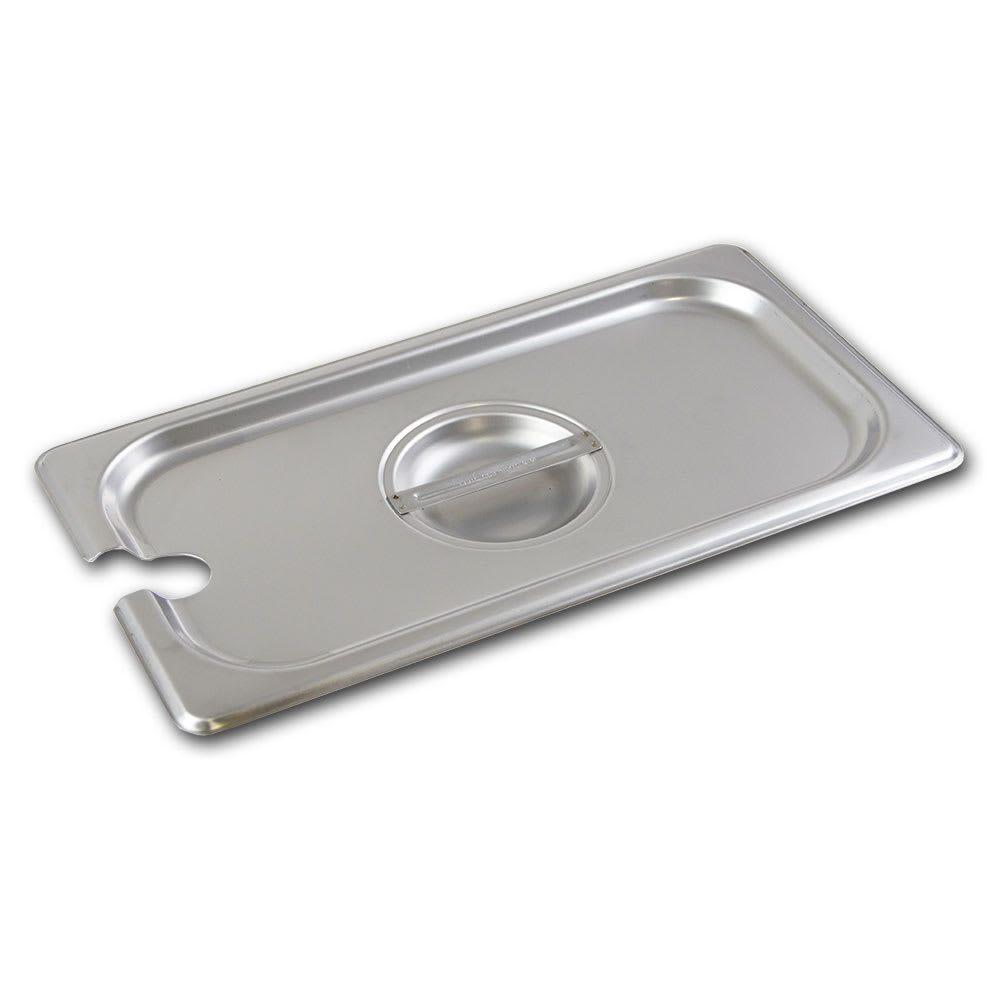 Browne 575549 Third-Size Steam Pan Cover - Notched, Stainless