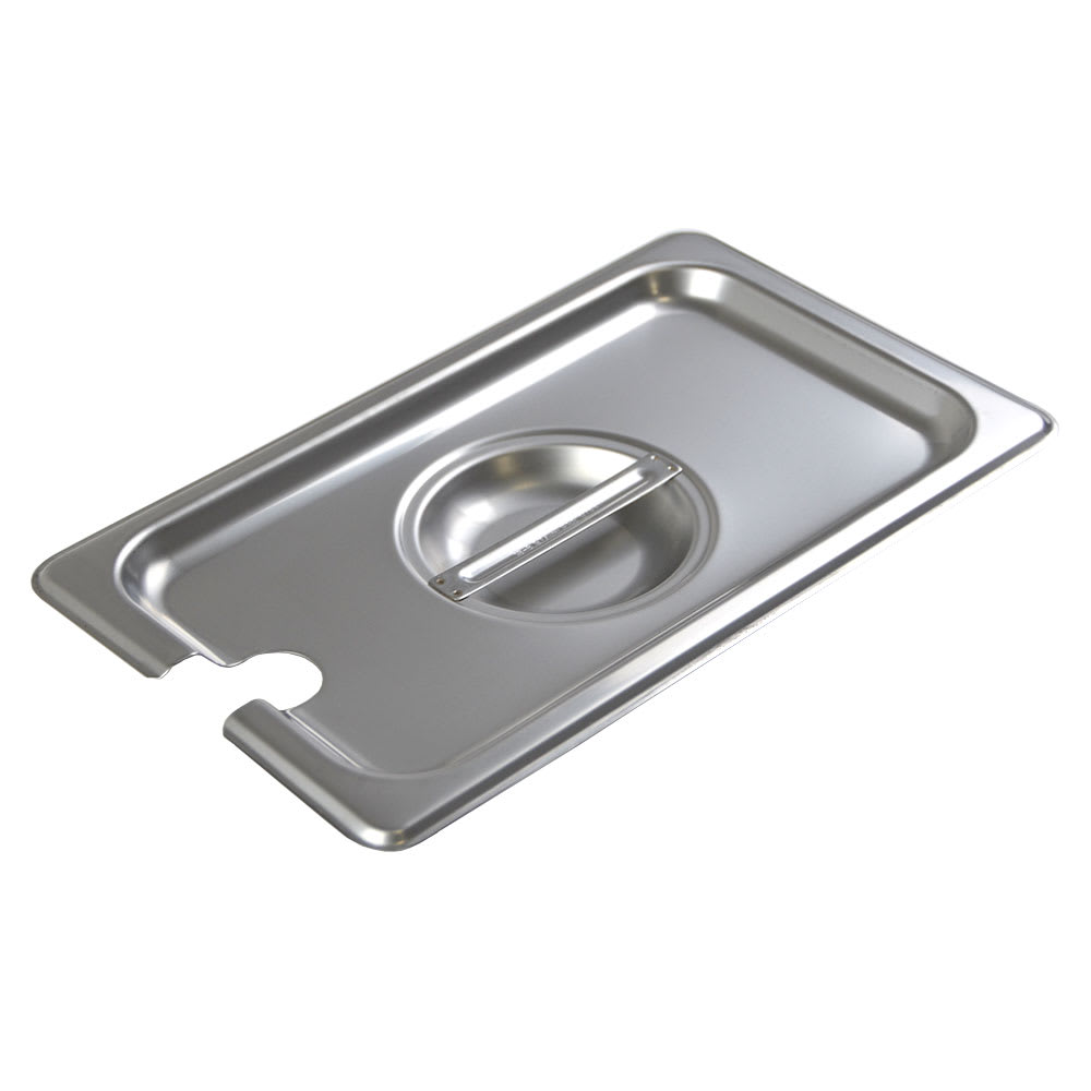 Browne CP8142NC Fourth-Size Steam Pan Cover - Notched, Stainless