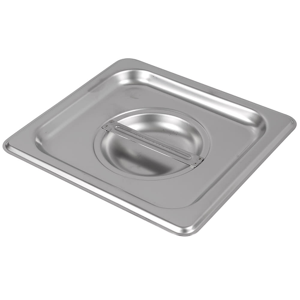 Browne 575568 Sixth-Size Steam Pan Cover, Stainless