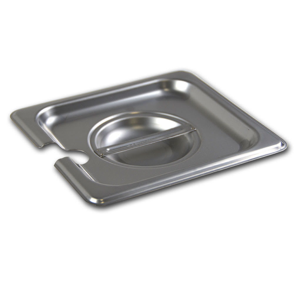 Browne 575569 Sixth-Size Steam Pan Cover - Notched, Stainless