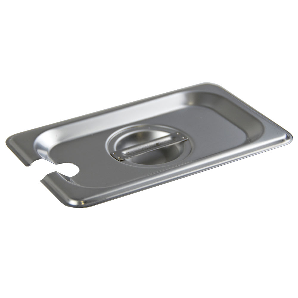 Browne 575599 Ninth-Size Steam Pan Cover - Notched, Stainless