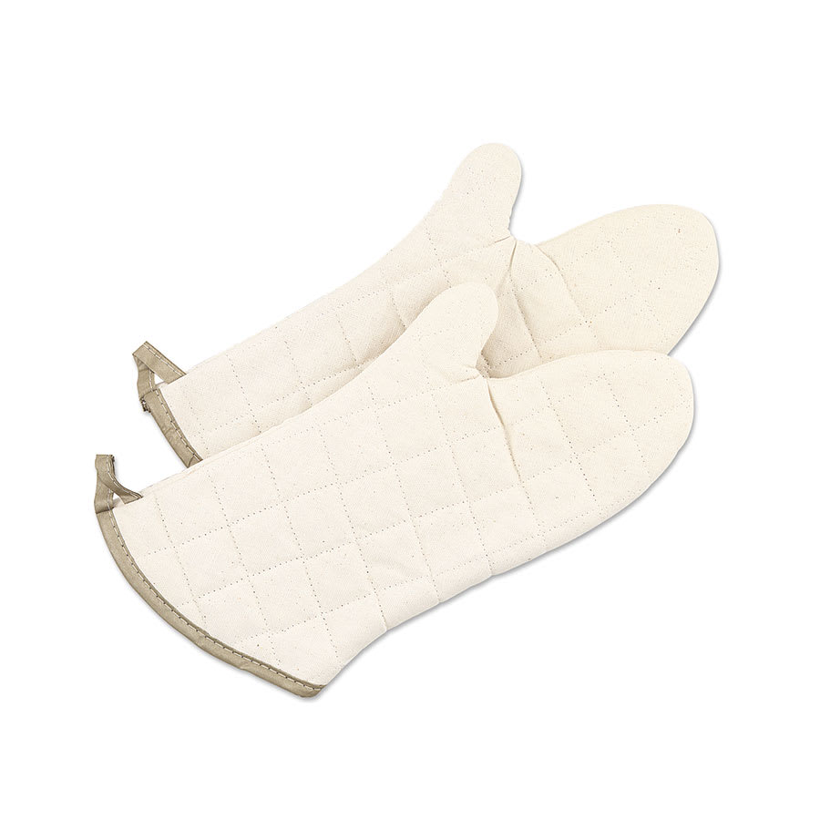 """Browne FRM15 15"""" Cotton Grill or Oven Mitt, Flame Retardant"""