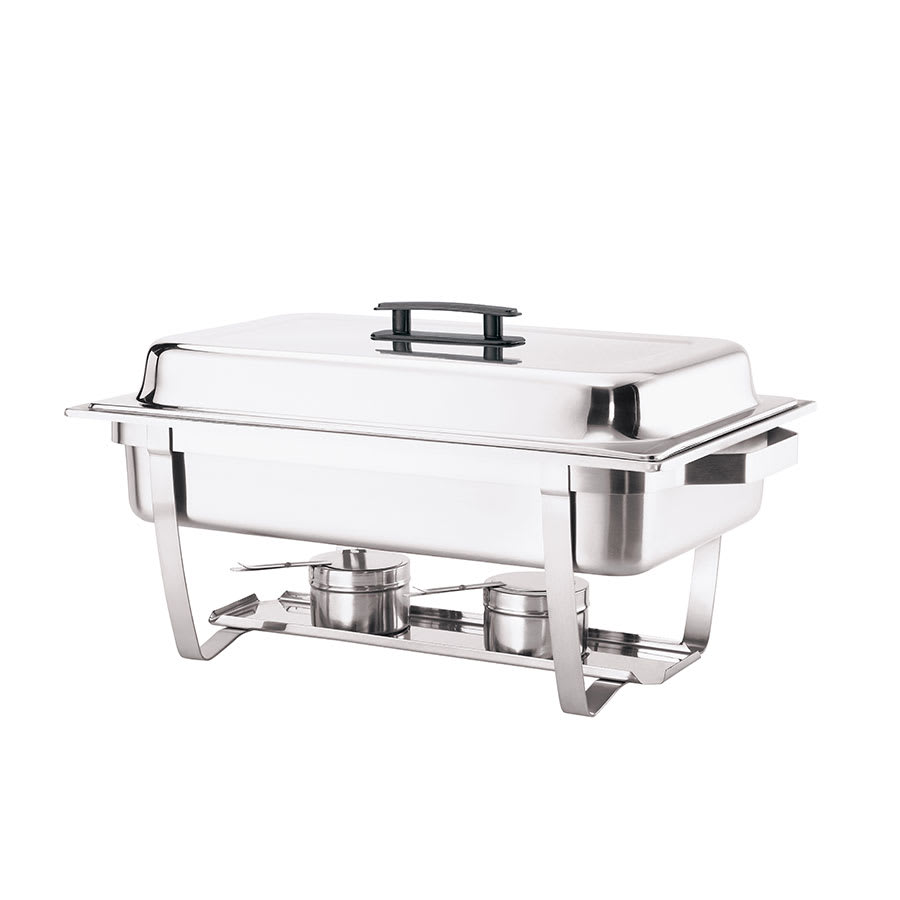 Browne 575126 Full Size Chafer w/ Hinged Lid & Chafing Fuel Heat