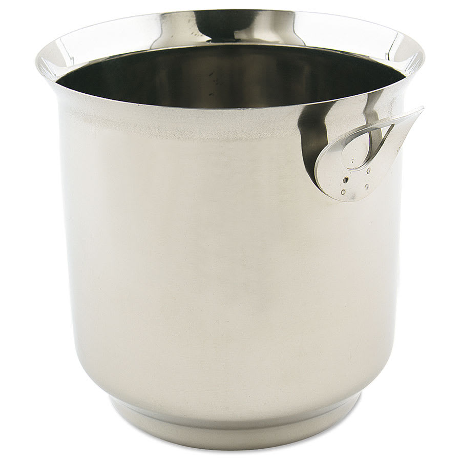 "Browne 571525 Ice Bucket, 6-1/4""High, Stainless Steel"