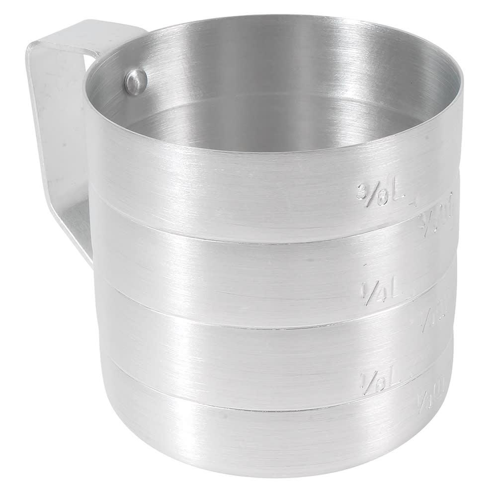 Browne 575605 Dry Measure, 1/2 qt, Heavy-Duty Aluminum