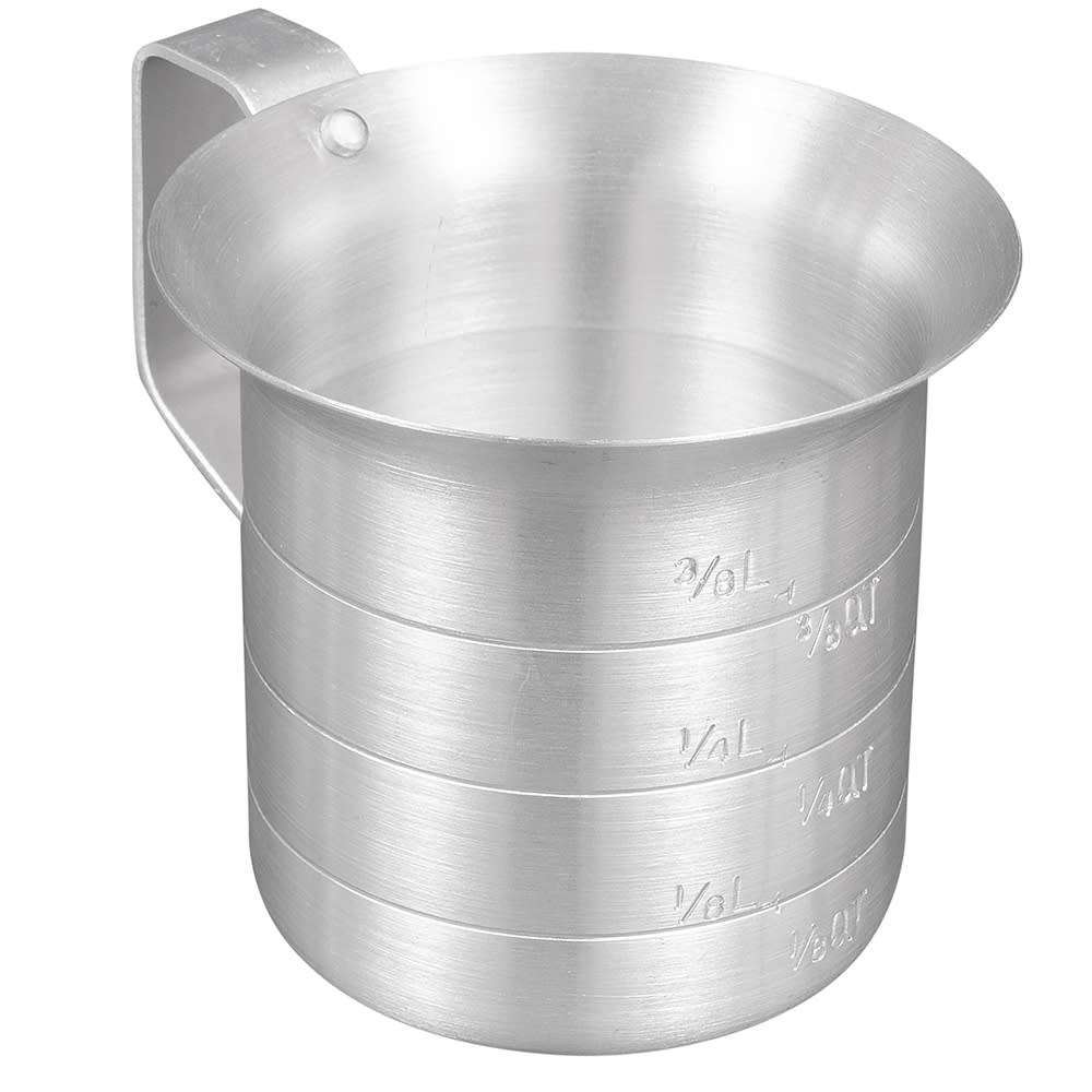 Browne 575645 Liquid Measuring Cup, 1/2 qt, Heavy Duty Aluminum