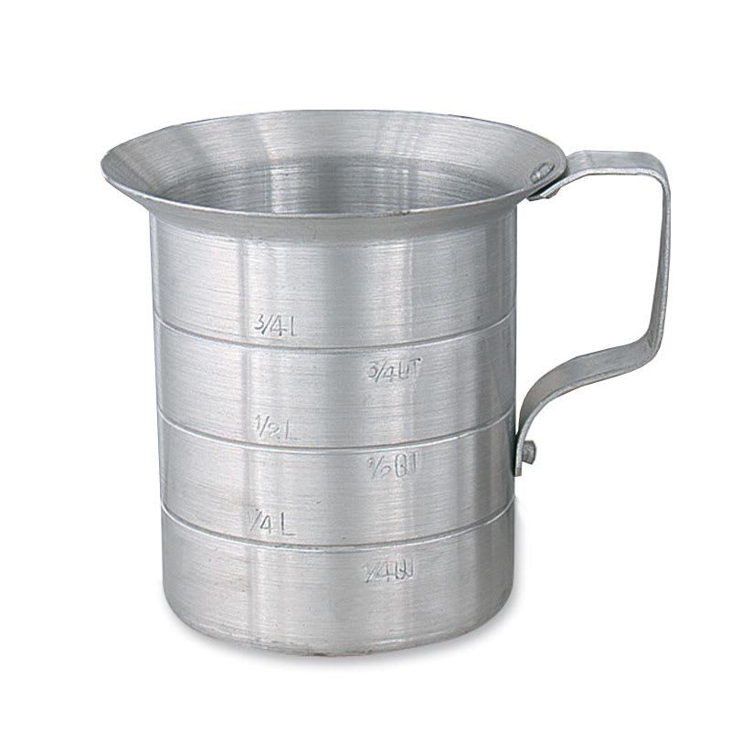 Browne 575650 Heavy Duty Liquid Measuring Cup w/ 1 qt Capacity, Aluminum