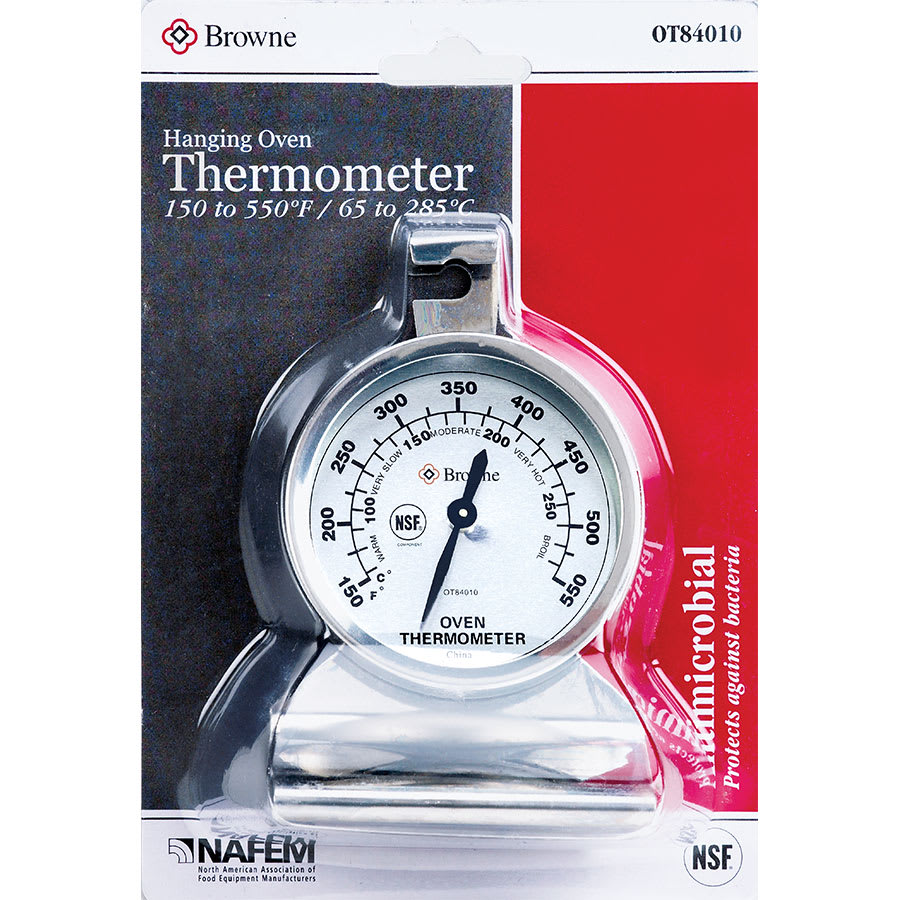"Browne OT84010 Oven Thermometer, 2-3/8""dial, 150 to 550 Degree Temperature Range"