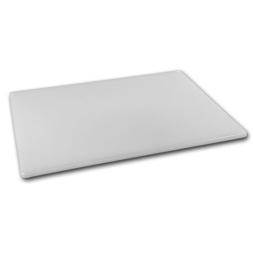 Browne 57361201 Cutting Board, Med Density, 12 x 18 x 1/2 in, White
