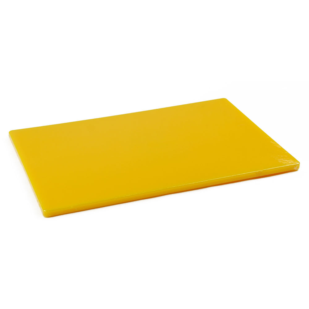Browne 57361217 Cutting Board, 12 x 18 x 1/2 in, Medium-Density Poly Board, Yellow
