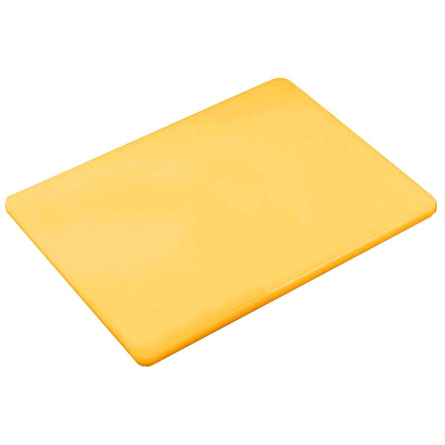Browne 57361517 Cutting Board, 15 x 20 x 1/2 in, Medium-Density Poly Board, Yellow