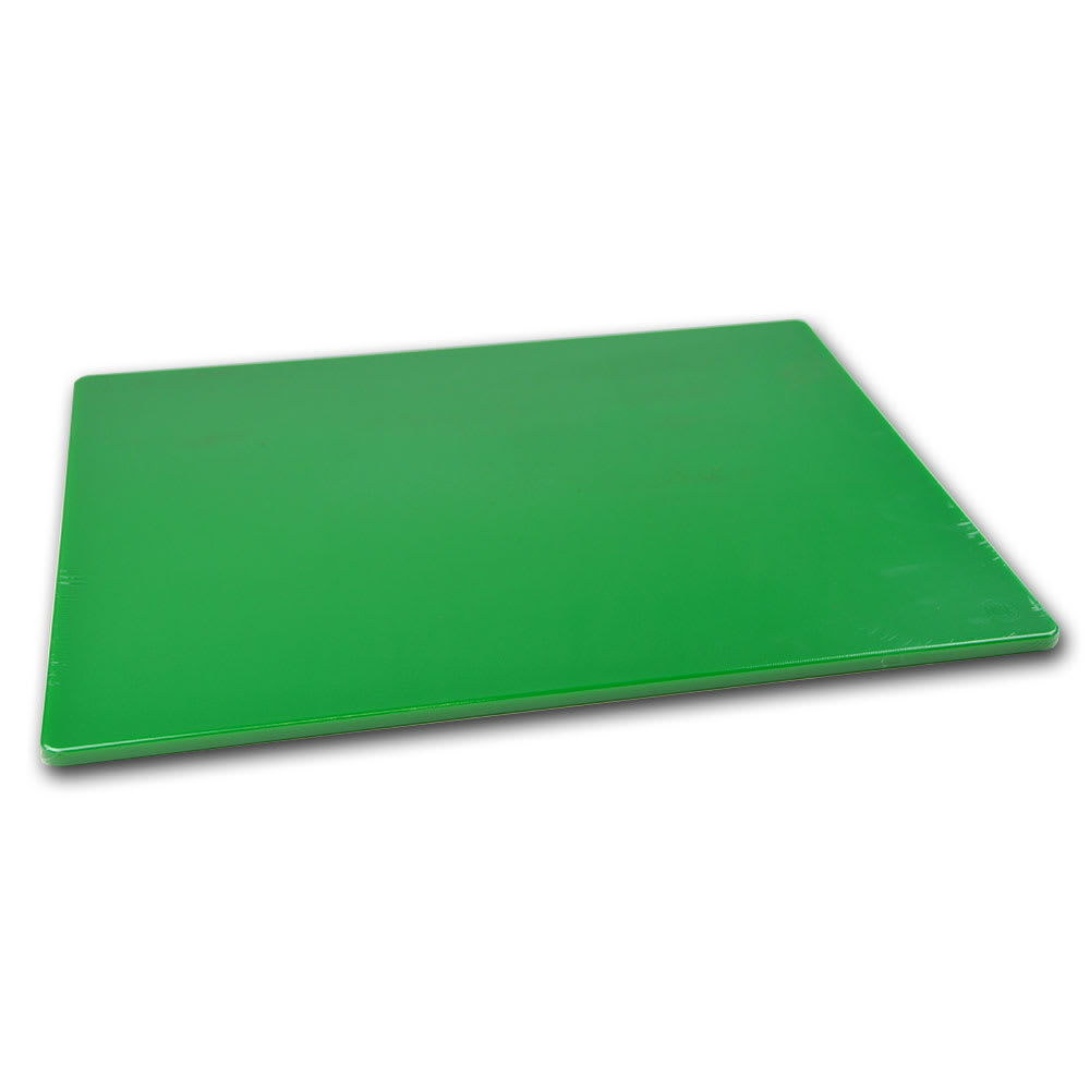 "Browne 57361804 Cutting Board w/ Non-Skid Surface, Medium Density, 18x24x.5"", Green"