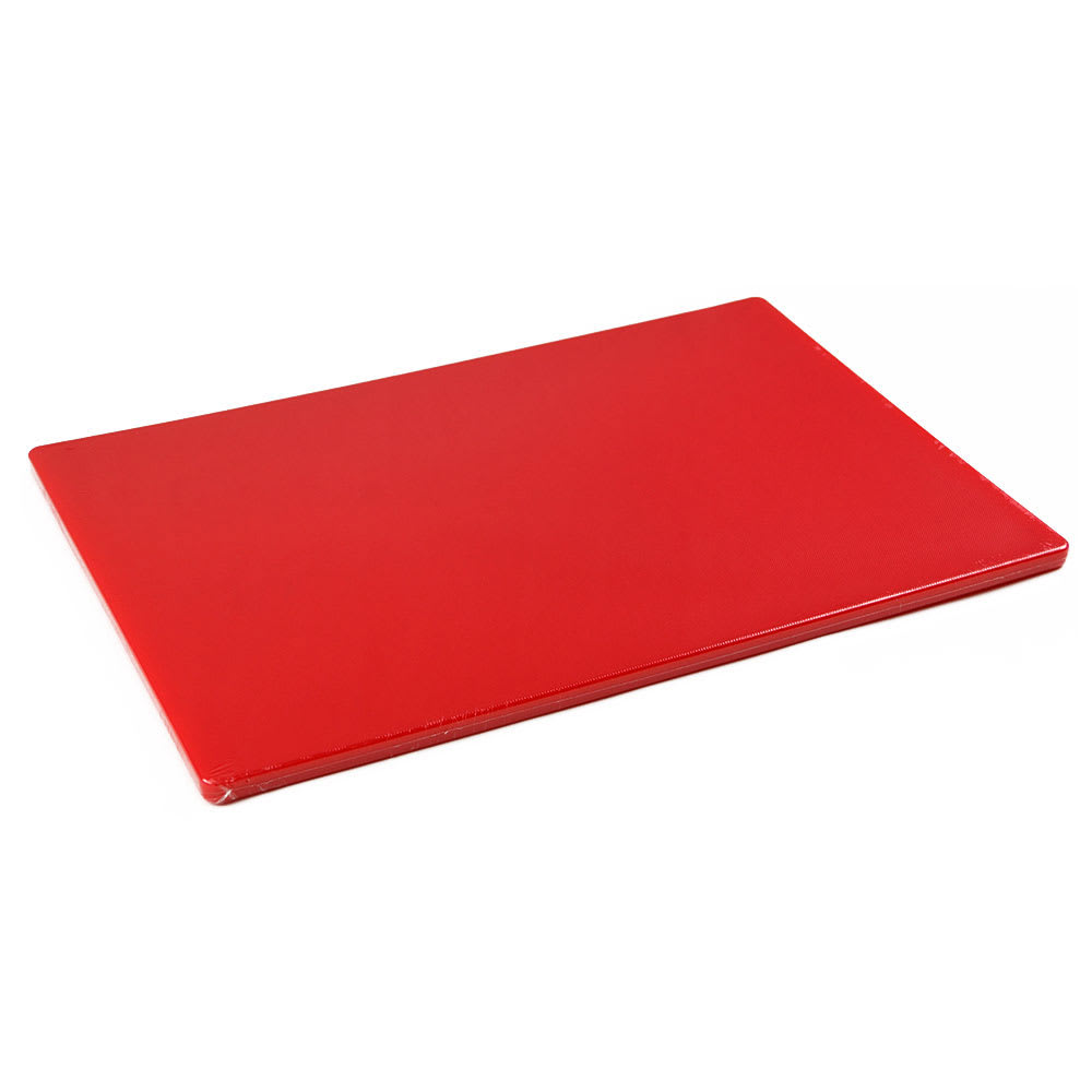 "Browne 57361805 Cutting Board w/ Non-Skid Surface, Medium Density, 18x24x.5"", Red"