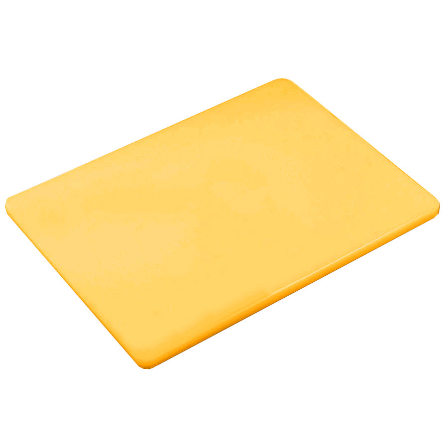 "Browne 57361817 Cutting Board w/ Non-Skid Surface, Medium Density, 18x24x.5"", Yellow"