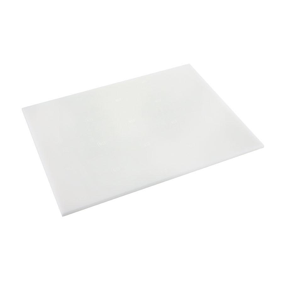 "Browne PER69 Cutting Board, 6 x 9 x 1/2"", High-Density Poly Board, White"