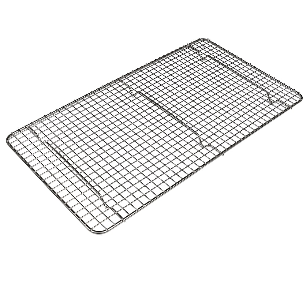 "Browne 575527 Pan Grate, 18 x 10"", Footed, Nickel Plated"