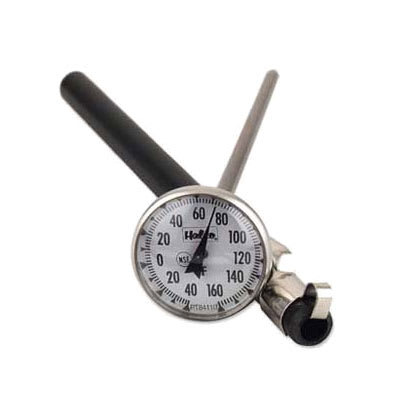 "Browne PT84101 Pocket Test Thermometer, 0 to 220 degrees F, 1""Dial, 5"" Stem"