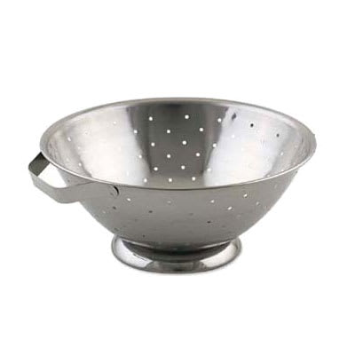 Browne R27 Colander, 5 qt, 10-1/4 in, Footed, Side Handles, Dent-Resistant