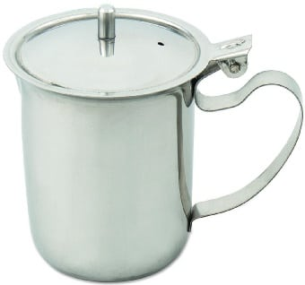 Browne S202 Teapot Creamer, Non-Stackable w/ Hinged Lid & Knob